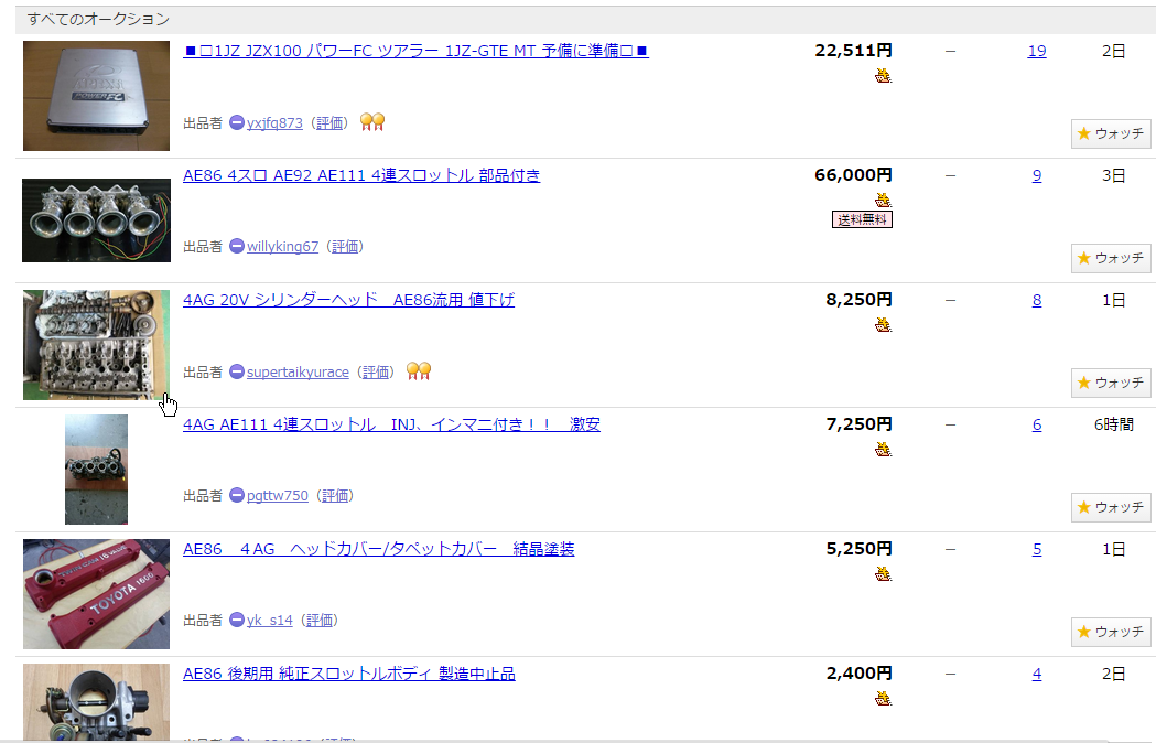 Tips for buying car parts from the Yahoo Japan Auction